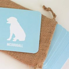 Personalized Dog Silhouette Coasters You by FireHydrantPress, $15.00