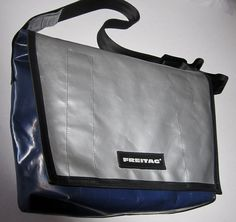 Authentic Freitag Messenger Bag Made of Used Truck Tarphttp://nomadcreativenomad.storenvy.com/