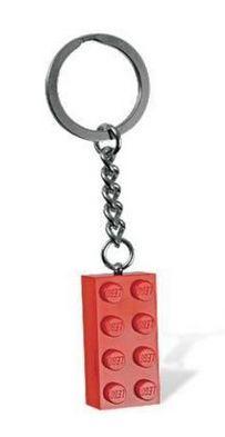 Red LEGO Brick Keychain