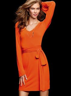 Bell-sleeve Dress - Victoria's Secret.. Love the color!