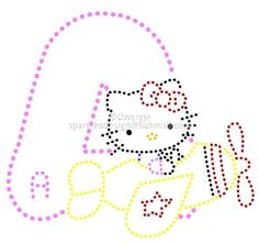 A B C   Alfabet Hello Kitty 2 by Dwergje   glittermotifs