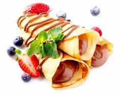 Crepes Chocolate Cream Berries Stock Photo (Edit Now) 129356951 Sweet Crepes Recipe, Crepes Rellenos, Chocolate Crepes, Banana Pudding Recipes, Crepe Recipes, Food Categories, Nutella, Sweet Tooth, Berries