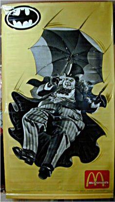 """Batman Returns 80"""" x 40"""" PENGUIN Mylar Poster Banner"""