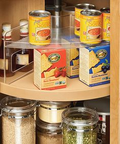 Lazy Susan Storage Shelf #zulily  Make the most of your space with this storage shelf that slides right into a corner for a dash of instant organization.  17.72'' W x 8.8'' H x 8'' D Plastic Imported #zulilyfinds