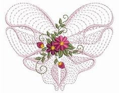 Rippled Floral Heart 2, 1 - 3 Sizes! | Floral - Flowers | Machine Embroidery Designs | SWAKembroidery.com Ace Points Embroidery
