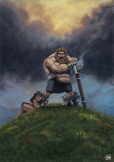 Real Men Wear Kilts Picture  (2d, cartoon, conan, warrior, viking, frazetta, babe, humour)
