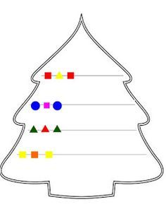 Juf Jamilla: Kerstboom patroon afmaken Christmas Worksheets, Christmas Math, Christmas Activities For Kids, Preschool Christmas, Christmas Colors, Christmas Projects, Christmas Holidays, Easy Crafts For Kids, Toddler Crafts