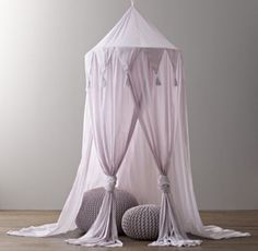RH baby&child's Cotton Voile Play Canopy:A little imagination goes a lot further when it's accompanied by our hanging canopy, which transforms any nook into an enchanted enclosure just perfect for play.