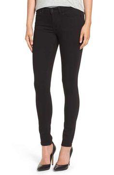 Caslon® Stretch Skinny Jeans (Black) (Regular & Petite)