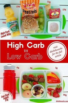 Low Carb Kids Look At A High Carb Vs Low Carb Lunch Box Astounding