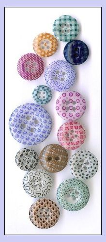 Vintage China Calico buttons