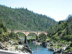 Old bridge into Auburn, California.