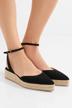 Paul Andrew - Rhea Suede Espadrilles - Black - IT38