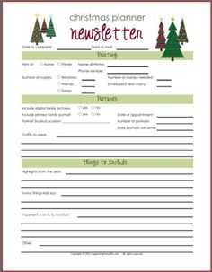 Cute Family Christmas Letter    Holiday Letter  Template
