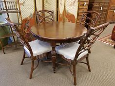 Only $399 for this brand new table and four chairs.
