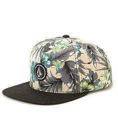523677d2482 Volcom Quarter Floral Snapback Hat