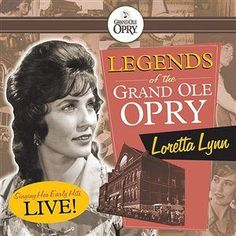 Loretta Lynn -- Legends of the Grand Ole Opry: Loretta Lynn (recorded live at the Ryman, Nashville, The pure youthful high lonesome sound of Lynn in her earliest performances. She's just amazing. Patsy Cline, Loretta Lynn, Country Music Videos, Grand Ole Opry, Willie Nelson, Famous Singers, Country Artists, Music Library, Love Her