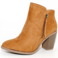 Women's Fashion Suede Fringe and Plain Ankle Booties