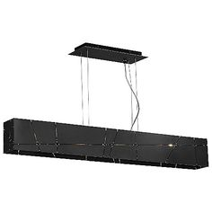 Inspired by the sheen of big city streets and intersections illuminated at night. The Tech Lighting Crossroads Linear Suspension is purposefully imperfect, rugged and industrial, replicating angled city grids with sections of raw sheet steel accented and held together with brass spot welding. Available with halogen or energy efficient LED lamping.