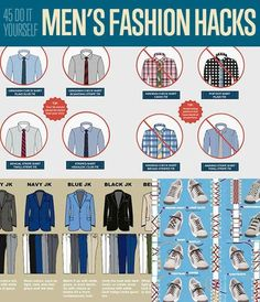 DIY Fashion Ideas! 45 DIY Men's Fashion Hacks| Fashion Tips for Menhttp://diyready.com/45-diy-mens-fashion-hacks/