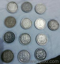 Rs 5 coin complete set 1992 to 2004 - Used Coins - Stamps - Jamia Nagar, Delhi | QuikrGoods