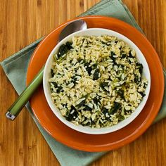 Let the Good Times Roll with this healthy recipe for Creole-Spiced Rice and Kale! (I use Uncle Ben's Converted Rice, which is the lowest-glycemic type of white rice, but I think this would be delicious with Cauliflower Rice.) [from KalynsKitchen.com]