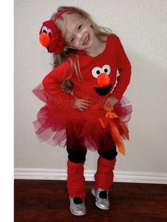 Elmo Tutu Dress with Matching Headband by DivaTotsShop on Etsy, $44.95