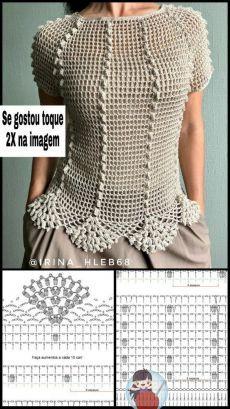 А что вы новенького сотворили своими руками? делитесь в комментариях | ''Очумелые '' ручки | Постила Débardeurs Au Crochet, Crochet Tunic Pattern, Pull Crochet, Mode Crochet, Crochet Girls, Crochet Jacket, Crochet Stitches Patterns, Crochet Woman, Crochet Cardigan