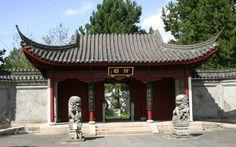 Ingang van de Chinese tuin Hortus Haren(Gr.)