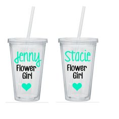 Hey, I found this really awesome Etsy listing at https://www.etsy.com/listing/254040872/two-flower-girl-tumblers-flower-girl