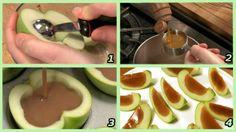 Caramel-Apple Jello Shots recipe ==> http://lovecookeat.com/caramel-apple-jello-shots-2/