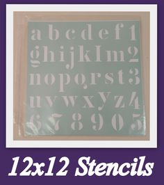 """Store your 12"""" x 12"""" stencils in our SuperSized Single Scraprack Storage page.  They will be easy to access and visible."""