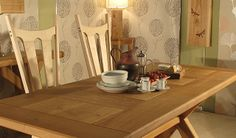 Oak dining table, hand made in Devon