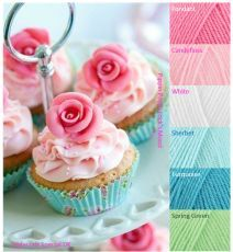 Yarn Lovers for Crochet and Knitting Paint Color Combos, Yarn Color Combinations, Paint Color Palettes, Beautiful Color Combinations, Colour Schemes, Color Mixing, Colour Combo, Colours That Go Together, Fondant Cupcake Toppers