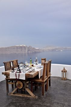 Amazing dining spot in Santorini ~ Greece   Escaping to dreams where anything is possible even realistic ones...
