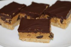 Chocolate Peanut Butter Bars | Suitcases & Sweets #glutenfree