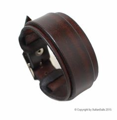 SB genuine leather wristband first class leather bracelet handmade leather cuff men's bracelet strap brown (29.99 USD) by LeatherBraceletStore
