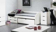 Salon Nowoczesne Meble Cyrskie przedstawia Państwu nowość – ciekawy system mebli DOMINO. Meble wykonane są z płyty MDF w kolorze białym. Łóżka posiadają stelaż z listew na taśmie. Zachęcamy do składania zamówień. http://www.mega-meble.pl/aktualnosc-61
