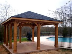 pergola plans with solid roof