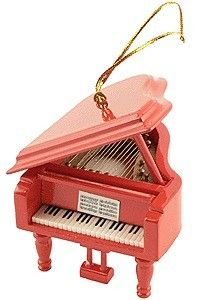 Mini Red Grand Piano Ornament $9.99 The holidays will be music to your ears when you hang this mini Red Grand Piano Ornament from your Christmas tree. You will not believe the detail put into this ornament.