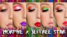 Morphe x Jeffree Star Artistry Palette Green Eyeshadow, Makeup For Green Eyes, Eyeshadow Looks, Eyeshadow Makeup, Eyeshadows, 80s Makeup, Beauty Makeup, Makeup Art, Morphe Pallets