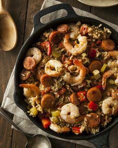 Jambalaya, la recette, comme à la Nouvelle Orléans Slow Cooker Recipes, Crockpot Recipes, Cooking Recipes, Dinner Crockpot, Oven Recipes, Casserole Recipes, Paleo Recipes, Paella, Chicken Freezer Meals