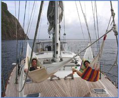 Hangin out on S/V Y Not, St Barth's