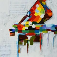 Image result for piano painting