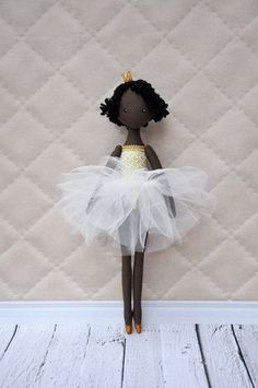 ballerina Doll,princess doll,Textile doll, decorative doll,collectible dolls , doll cotton, rag doll  Height of doll 35cm (14 inches)  Princess is sewn