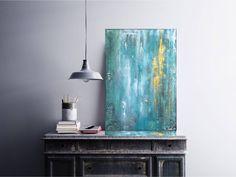 """Freue mich, euch diesen Artikel aus meinem Shop bei #etsy vorzustellen: VICTORIA Acryl Gemälde 50x70cm """"OCEAN BREEZE"""" Acrylbild, Abstrakt, Modern Victoria, Lighting, Modern, Etsy, Paintings, Home Decor, Pretty Pictures, Canvas, Trendy Tree"""