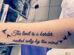"""""""O limite é uma fronteira criada apenas pela mente..."""" #finished #NewTattoo #loveit #OneMore #Motivationalways #tksgod 🍃🤗😍👏🕊💕"""