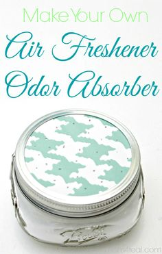 Homemade All Natural Air Freshener / Odor Absorber...get this and tons of other cleaning tips and tricks at mom4real.com