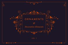 Ornaments and Decorative Elements by digiful on Creative Market