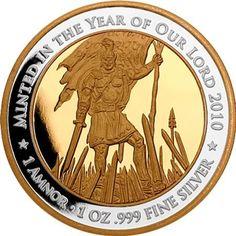 2012 Captain Moroni Silver Coin, (Gold Proof Single)